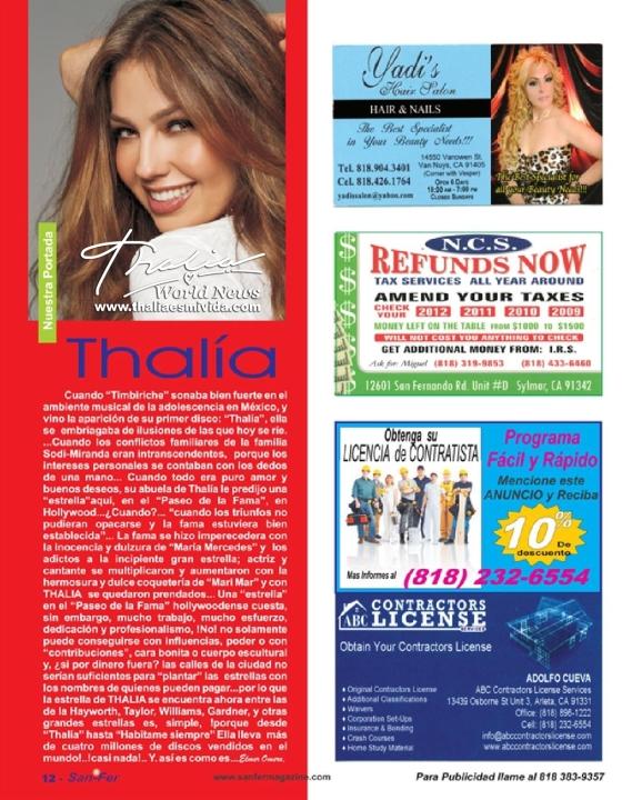 San Fer Revista Thalia Scan